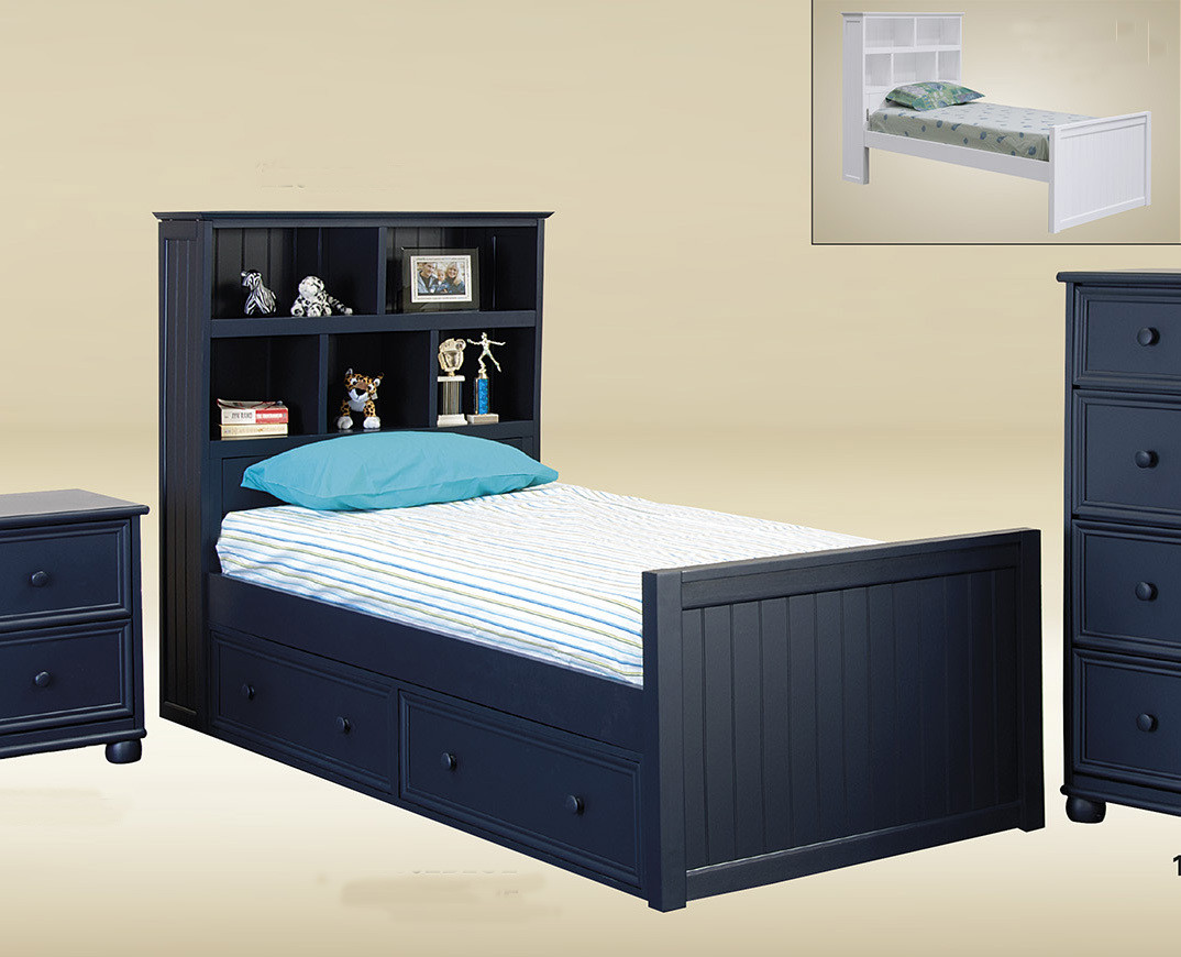 dillon extra long twin captains bed