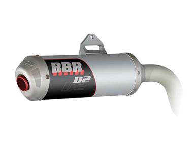 bbr exhaust system d2 silver klx140 08 205 klx 1431