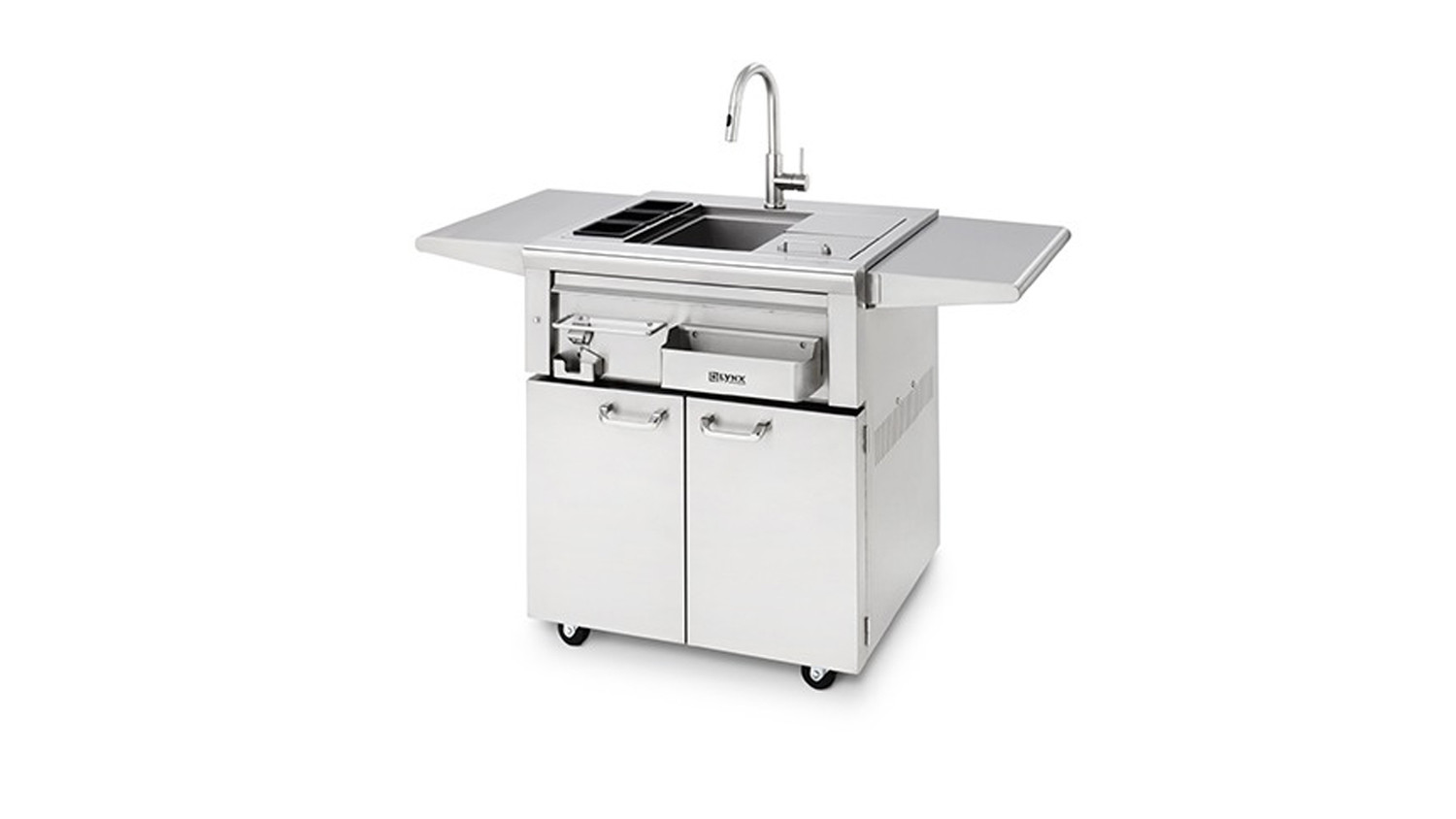 lynx 30 cocktail station on freestanding cart lcs30f