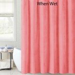 Pink Coral Magic Fabric Shower Curtain Liner Nautical Design Appears When Wet 72 X 72