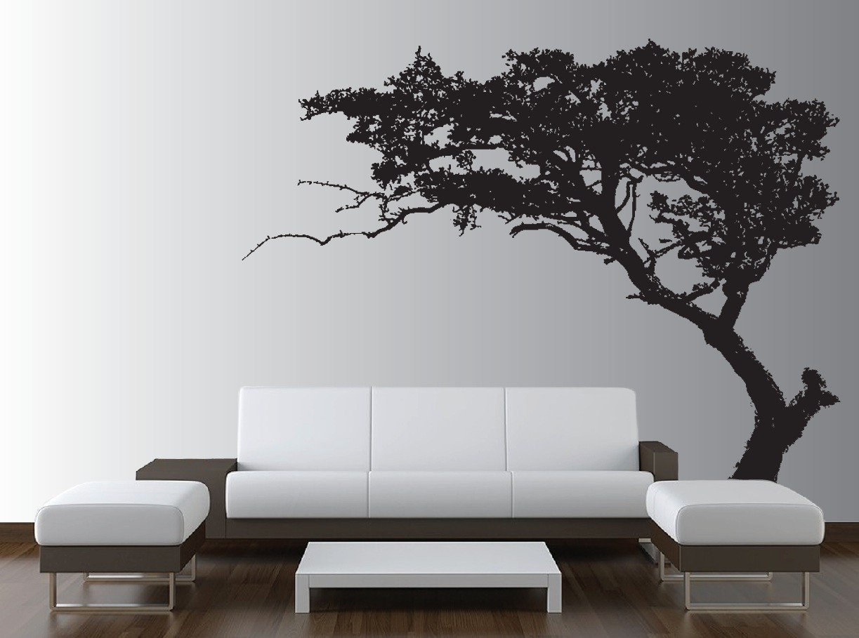 Large Wall Tree Decal Forest Decor Vinyl Sticker Highly Detailed Removable Nursery 1131