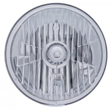7 Round Crystal Headlight With Sylvania Halogen Bulb