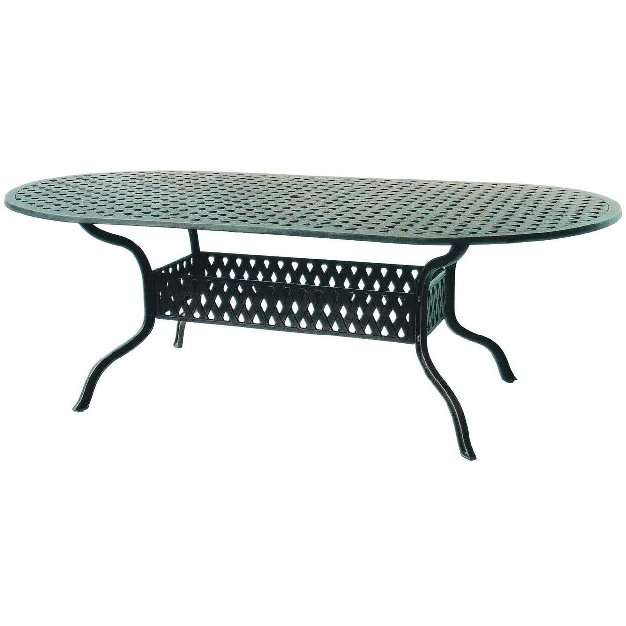 darlee series 30 oval patio dining table antique bronze