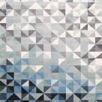 Metro Pixel Blue Modern Rug