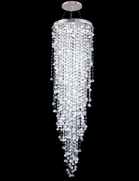 Modern Contemporary High Ceiling Crystal Chandelier Pendant Light