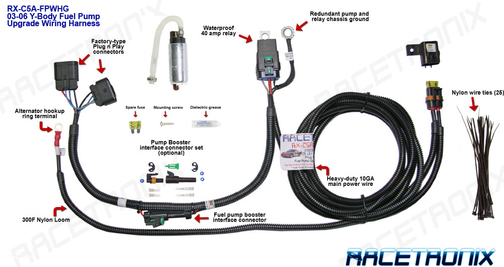 Fuel Pump Kit, Racetronix 2003 & Up Corvette C5 & C6 Fuel Pump & Wiring Harness Kit  Hawks