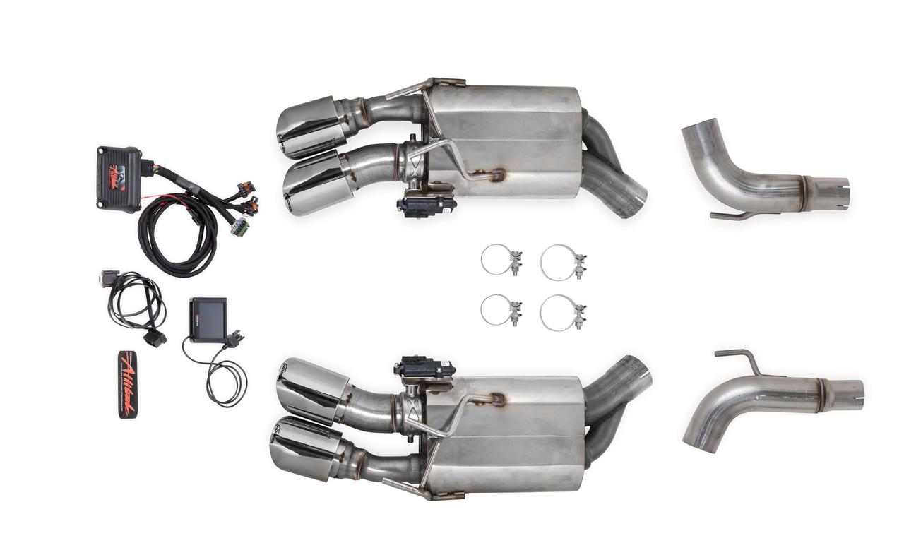 2012 15 camaro ss 6 2l 3 304 stainless steel multi mode axle back exhaust hooker blackheart