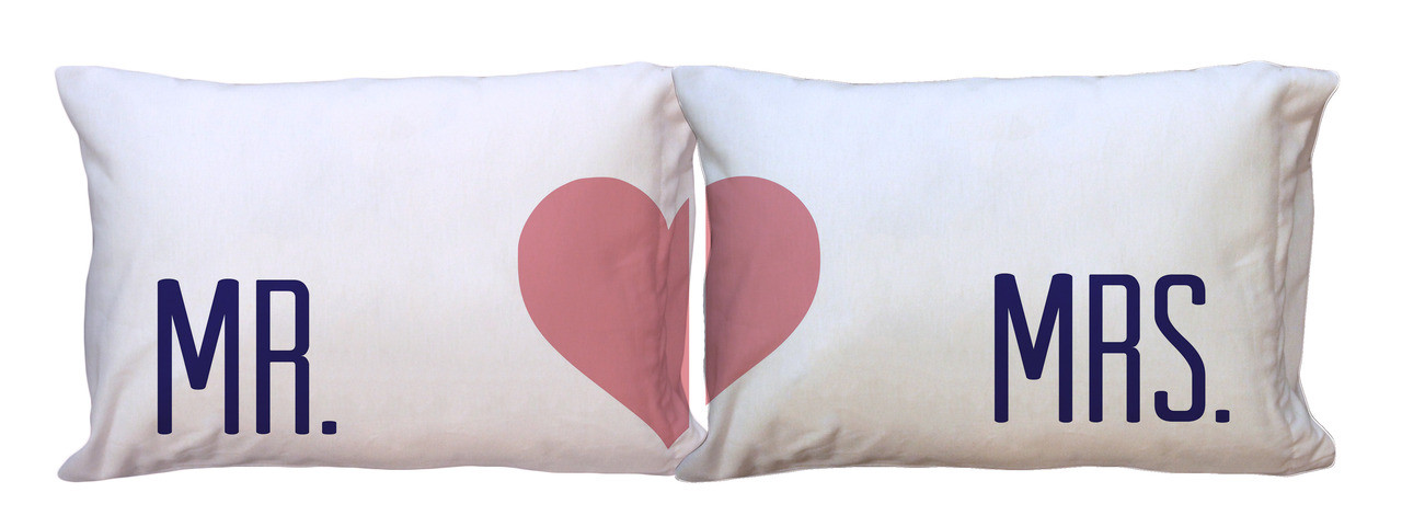 mr and mrs pillowcases