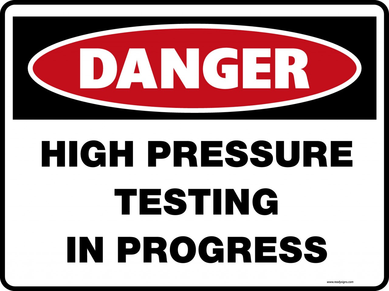 High Pressure Testing In Progress