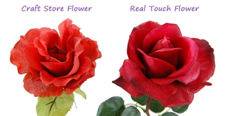What Are Real Touch Flowers   Flowers by Design com real touch comparison