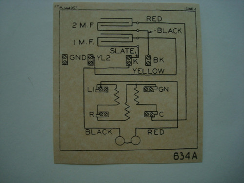 634 subset ringer wiring diagram glue on  Old Phone Shop