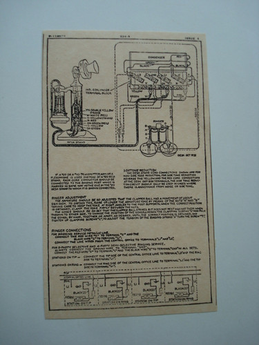 Western Electric 334A ringer subset box wiring diagram