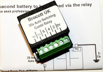30 Amp Voltage Sensing Split Charge Relay