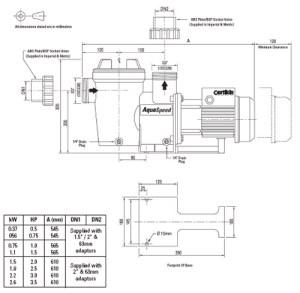 Certikin Aquaspeed swimming pool pumps