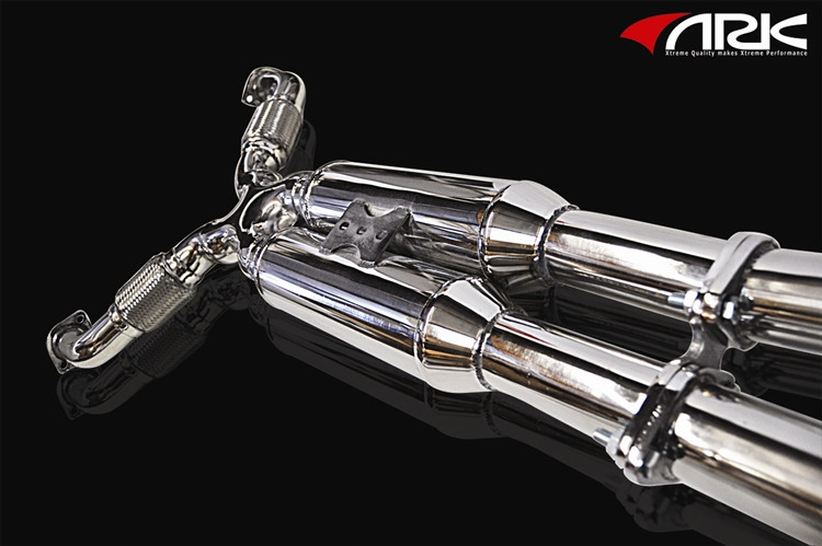 ark performance grip polished tip exhaust infiniti g35 g37 sedan q40 07 15
