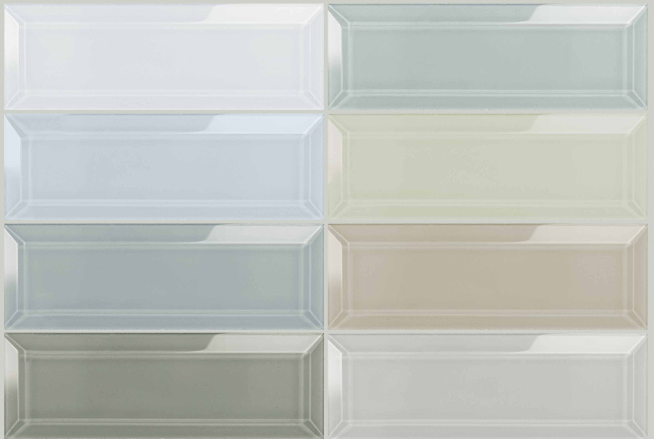 https www worldclasstiles com shop by size 3 x 9 bliss element collection 3 x 9 beveled glass mosaics anatolia tile stone