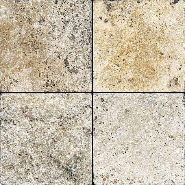 picasso travertine tumbled 6x6 field tile
