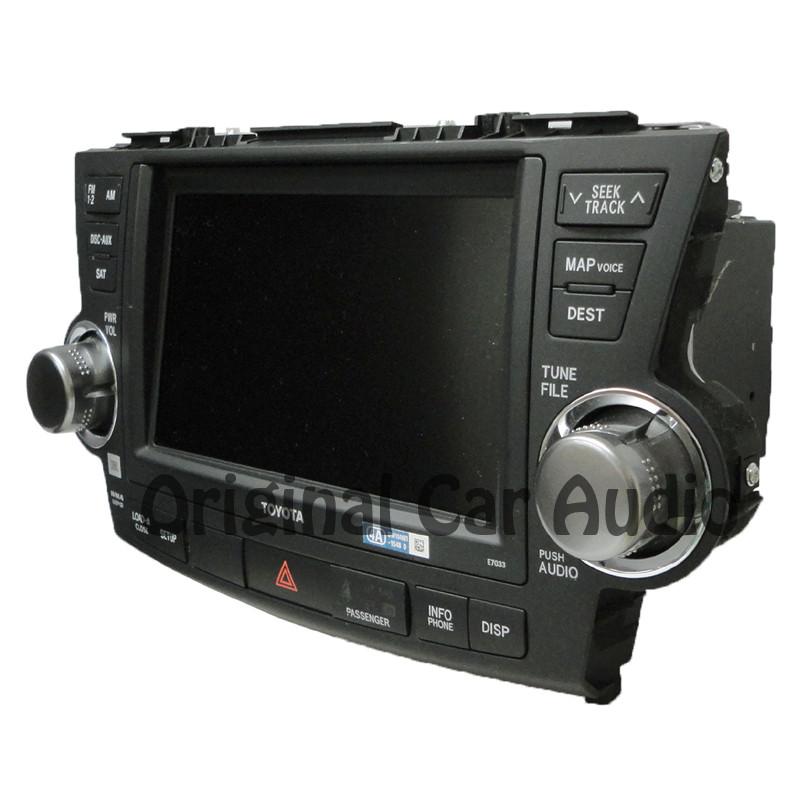 2011 2012 13 Toyota HIGHLANDER Navigation Radio GPS Touch