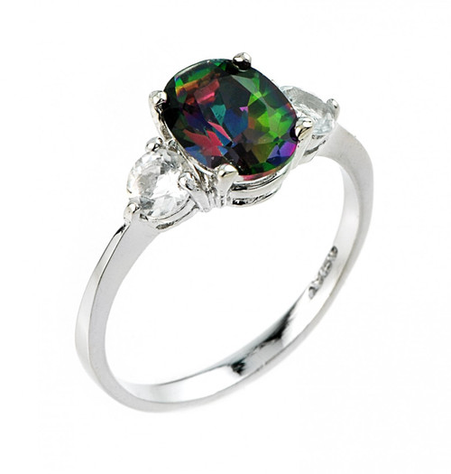 Mystic Topaz Mens Ring