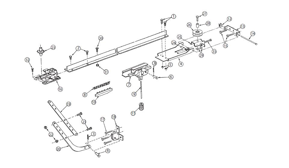 Overhead Door Legacy 696CDB Replacement Parts