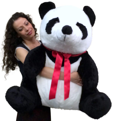 American Made Giant Stuffed Panda 32 Inch Huge Soft Plush