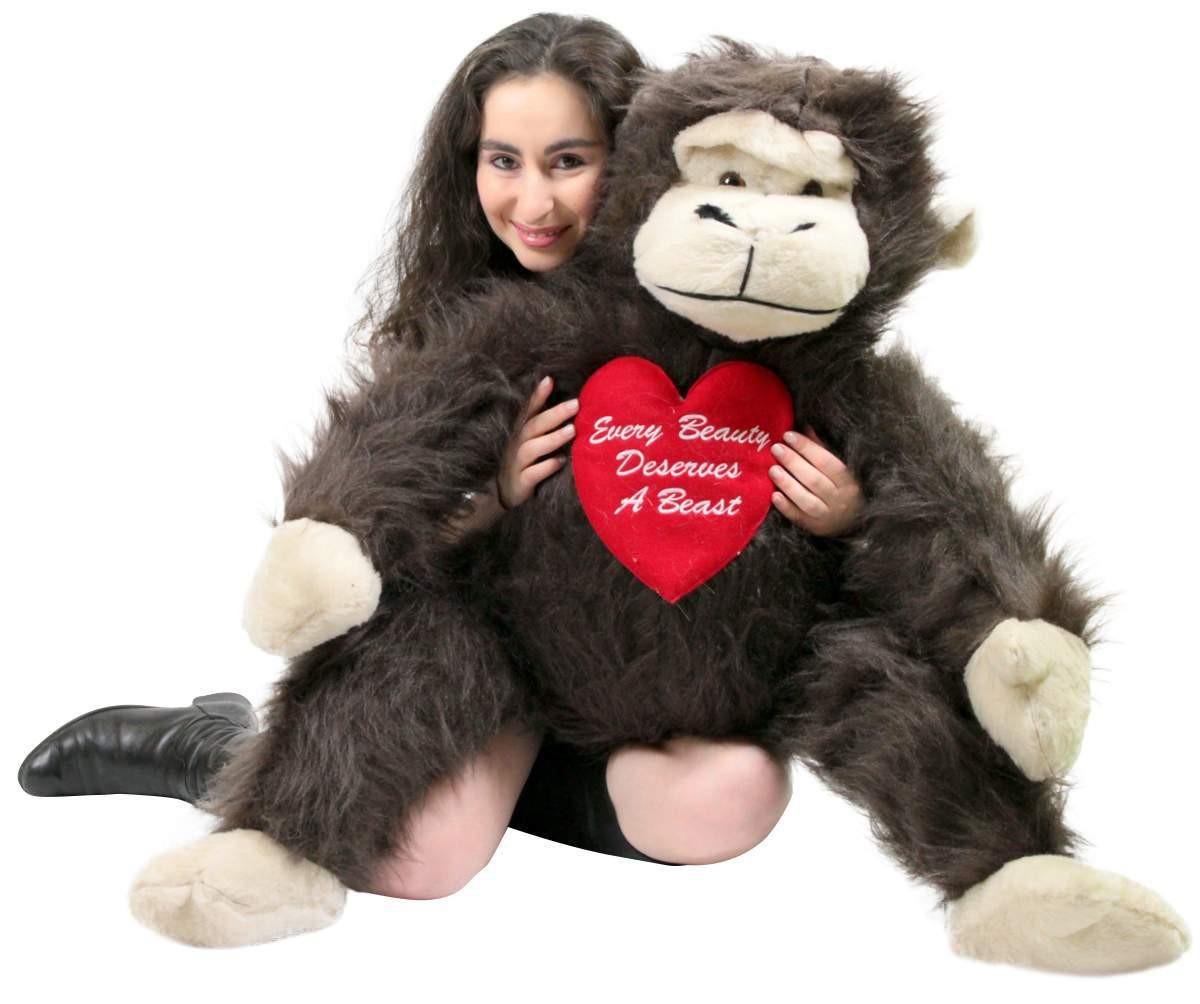 American Made Romantic Giant Stuffed Monkey 40 Inches