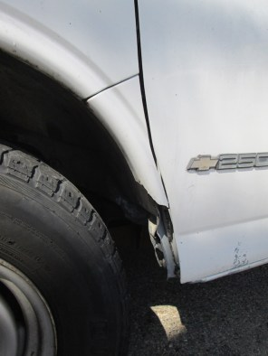 Driver side, broken