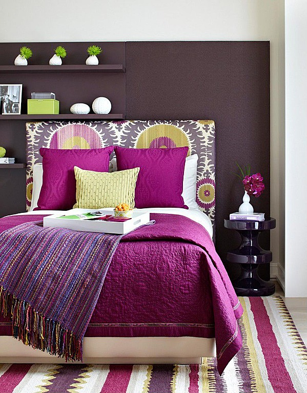 orchid purple bedroom