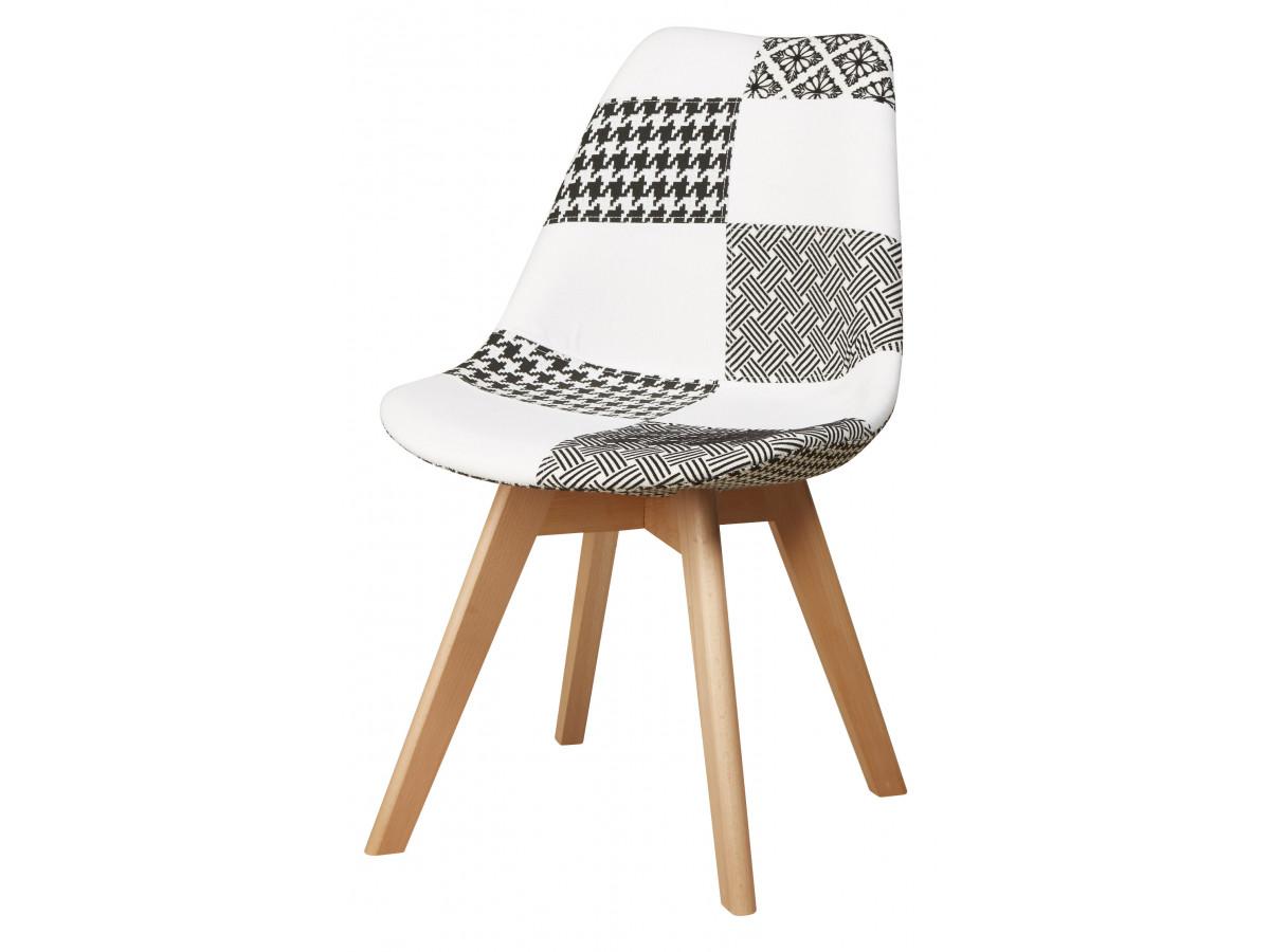 chaise poule patchwork style scandinave bicolore