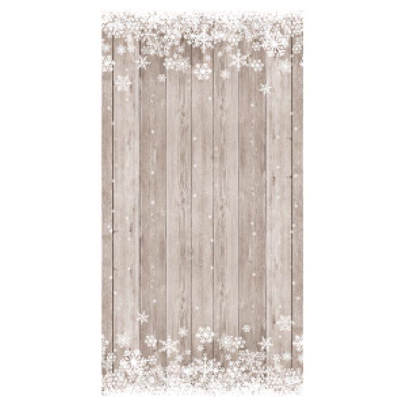 rouleau de nappe damasse effet bois flocons de neige 6 metres
