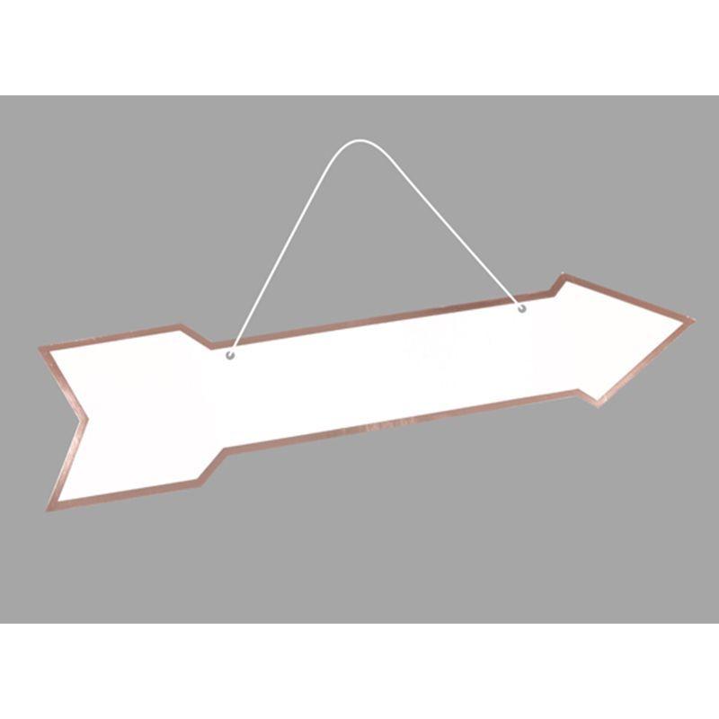 fleche signaletique au bord metallise recto verso couleur au choix