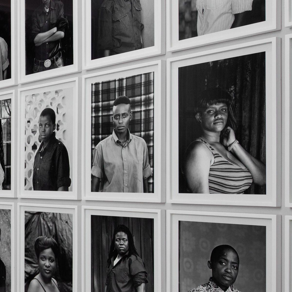 <p>Zanele Muholi (South African, b. 1972). <i>Faces and Phases</i> installed at dOCUMENTA (13), Kassel, Germany, 2012. (Photo: © Anders Sune Berg)</p>