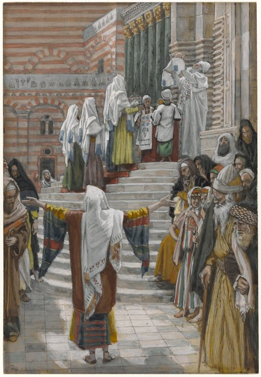 La presentation de Jesus au Temple by James Tissot