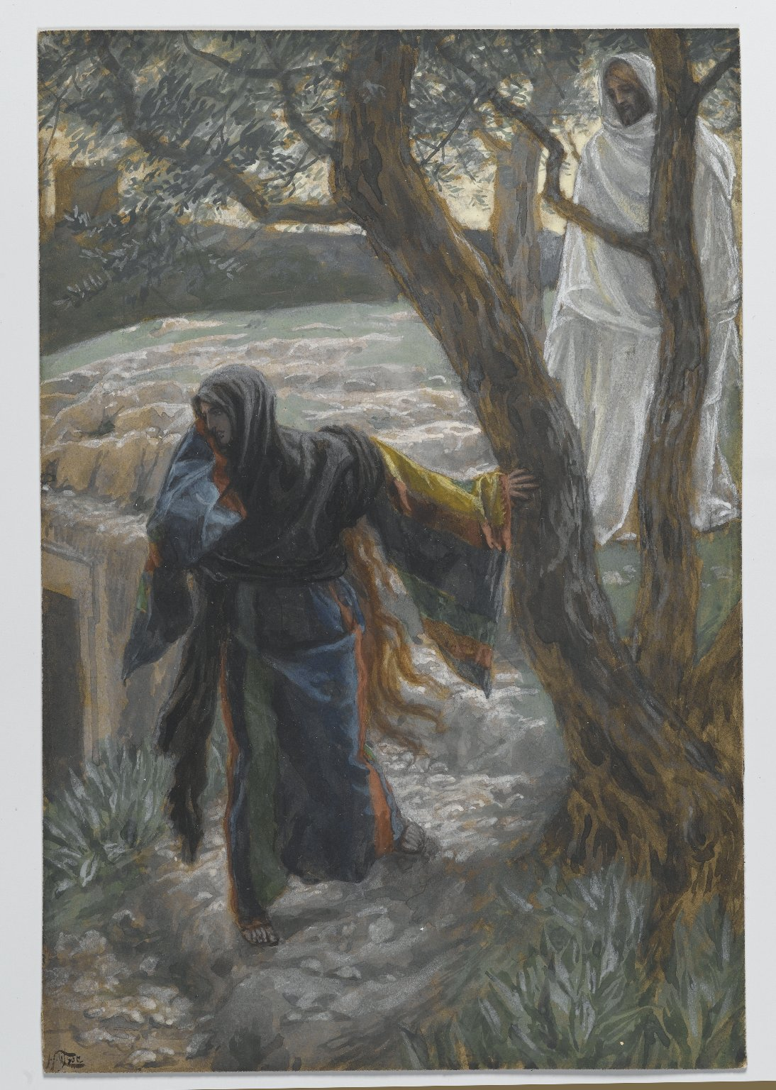 Jesus Appears to Mary Magdalene, James Tissot (1836-1902), Brooklyn Museum of Art.