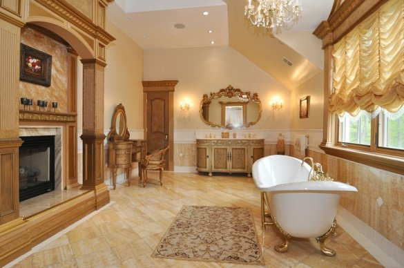 bathroom-with-fireplace