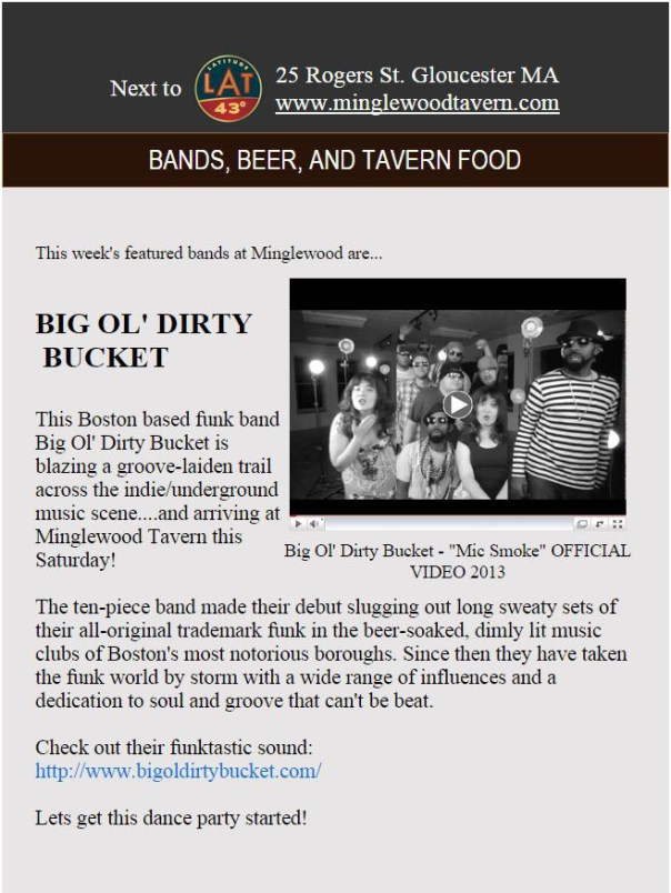 Weekly Feature - Minglewood