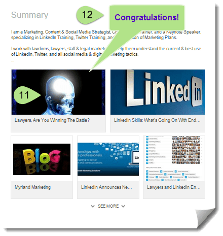Adding Rich Media to Your Professional Portfolio on LinkedIn