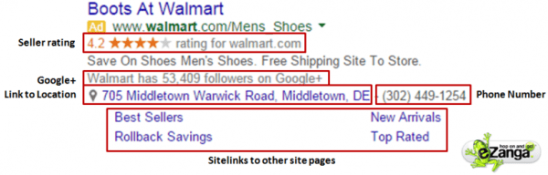 Paid Search (PPC) Ad using Ad Extensions