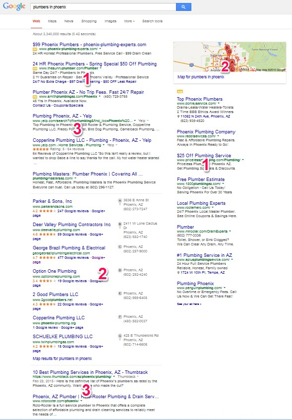 Google Local Results