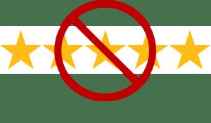No more 5 star reviews!