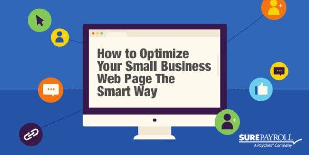 optimize small business web page