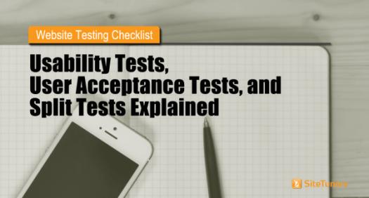 website usability testing checklist
