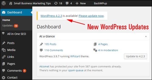 WordPress continually releases new updates to address security weaknesses