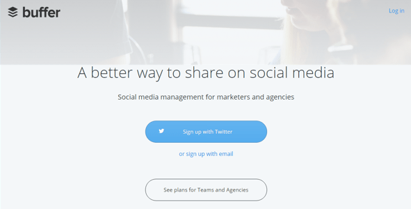 buffer - example of a content marketing tool