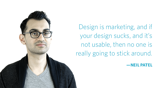 2neil patel quote design is marketing