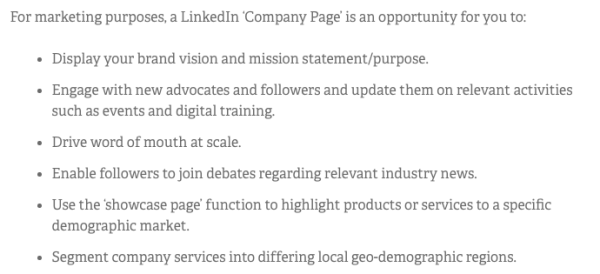 Econsultancy on How to Use Your LinkedIn Company Page