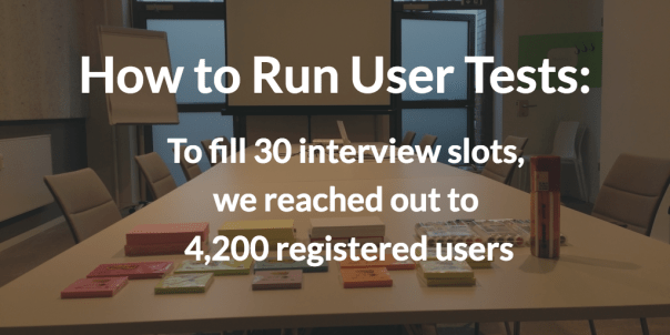 How to run user test successfully: The right candidates