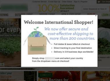 geo-targeted website personalization