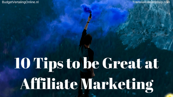 '10 Tips to be Great at Affiliate Marketing' If you have gained some affiliate marketing experience, this blog helps you to improve your affiliate marketing skills. Read the blog at http://bit.ly/GreatAtAM