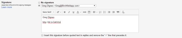 customize email signature